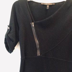 Jet black knit BCBGMaxazria jumper dress